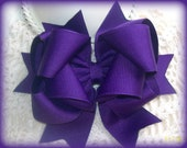 Pansy Purple Hair Bow....Girls Hair Bow...Toddler Hair Bow..Infant Hair Bow....Boutique Hair Bow