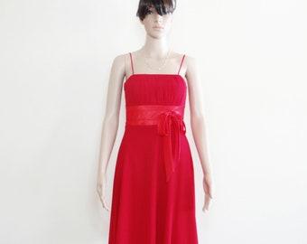 Red Evening Dress . Red Bridesmaid Dress.