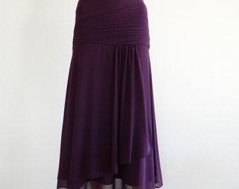 Purple Bridesmaid Skirt. Purple Maxi Skirt. Evening Skirt. Stretch Party Skirt.