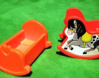 Fisher Price Little People Cradle and Rocking Horse