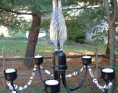 SALE price - Chic Candle Chandelier from Recycled Materials