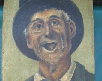 Late 19th Cent. O/C Hobo Portrait Signed Raynor  FREE SHIP