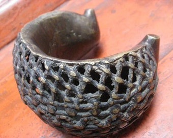 Heavy Vintage Tribal African Arm Band/Bracelet from Mali.