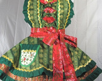 Holiday Brocade Marie Antoinette Apron Dots Diner Style fancy dress waitress
