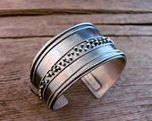 Twilight Asymmetrical Affinity Cuff in Sterling Silver