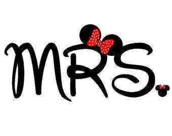 Custom Personalized Disney Minnie Mrs. Iron on Transfer Decal(iron on transfer, not digital download)
