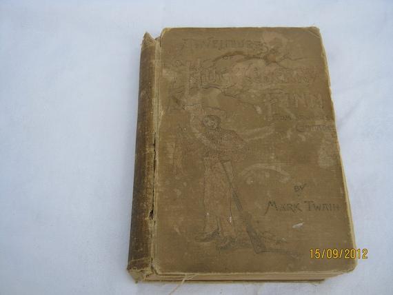 Antique The Adventures of Huckleberry Finn by Mark Twain