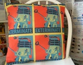 Dr Who Pillow, DALEK Cushion Dalek Pillow, Geek Gift, Gifts for boys, ROOBYS FabRIcS
