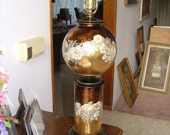 Hollywood Regency Maison Jansen EGLOSIME GLOBULAR GLASS Lamp