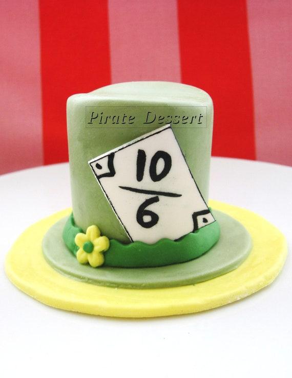 Edible Cake Decorations Alice In Wonderland : Edible Cake Topper Alice in Wonderland MAD by PirateDessert