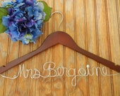 Personalized hanger/ Bride Hanger/ Wedding Hanger/Personalized wire hanger