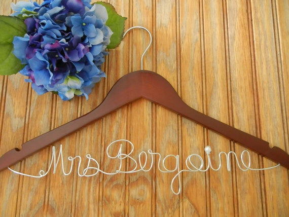 Personalized hanger/ Bride Hanger/ Wedding Hanger/Personalized wire hanger
