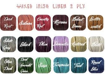 2 PLY- 5 Yards- Waxed Irish Linen Cord/ Thread