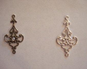 Filigree earring part (10) pcs #Drop 2