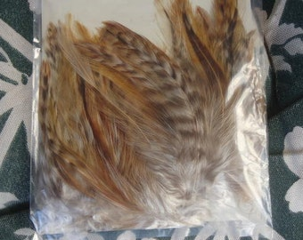 vintage bag of Feathers