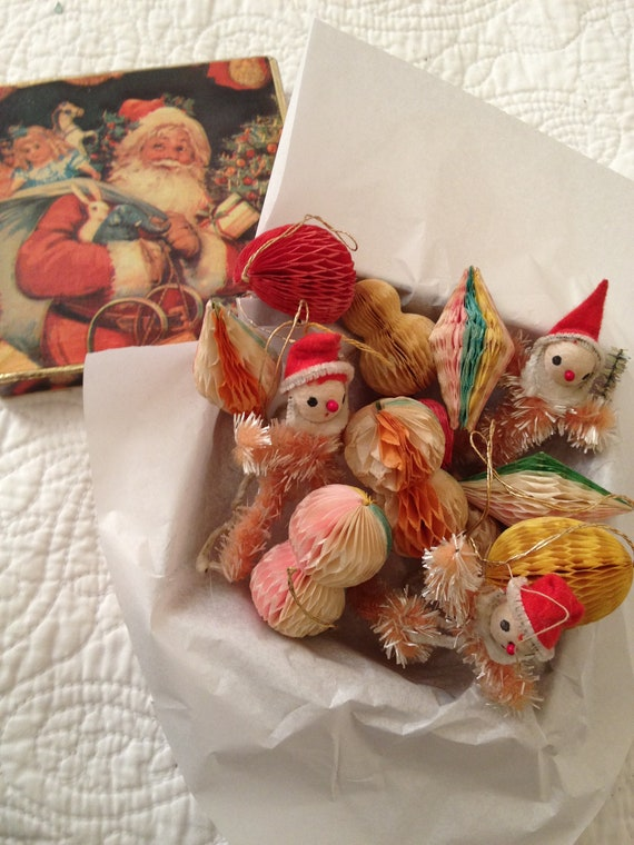 Vintage christmas decorations 1940s xmas ornaments vintage home