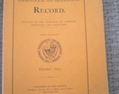 PRICE CUT New York Genealogical and Biographical Record October 1895 Published by The Society