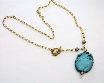 Turquoise Slab Necklace