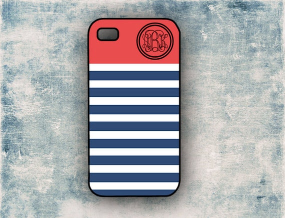 iphone 5c pictures preppy iphone 4 navy stripe with accent by 2354