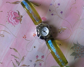 Fused Dichroic Glass Watch