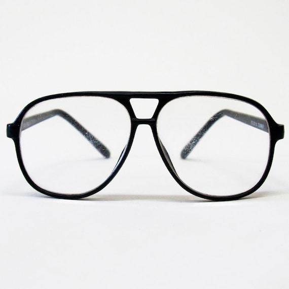 Black Frame Glasses Without Prescription : Vintage 1970s Prescription Black Frame Terry Richardson Style