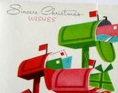 vintage christmas card 1950s unused greeting card