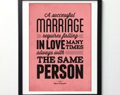 Love Quote Print, Falling In Love, Typography Poster, Quotes Posters,  Marriage Quotes Wall Prints, Pink Wall Art, Wedding Gift