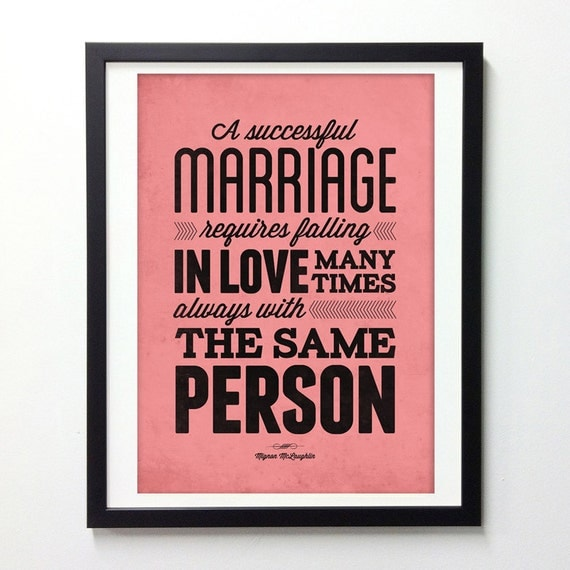 Items Similar To Love Quote Print, Falling In Love