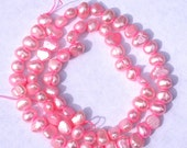 Pink Freshwater Pearls, 5-6mm Nugget Pearls---full strand