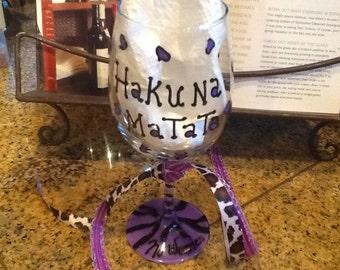 """Hakuna Matata...aka """" no worries"""" purple and black leopard and zebra stripes."""
