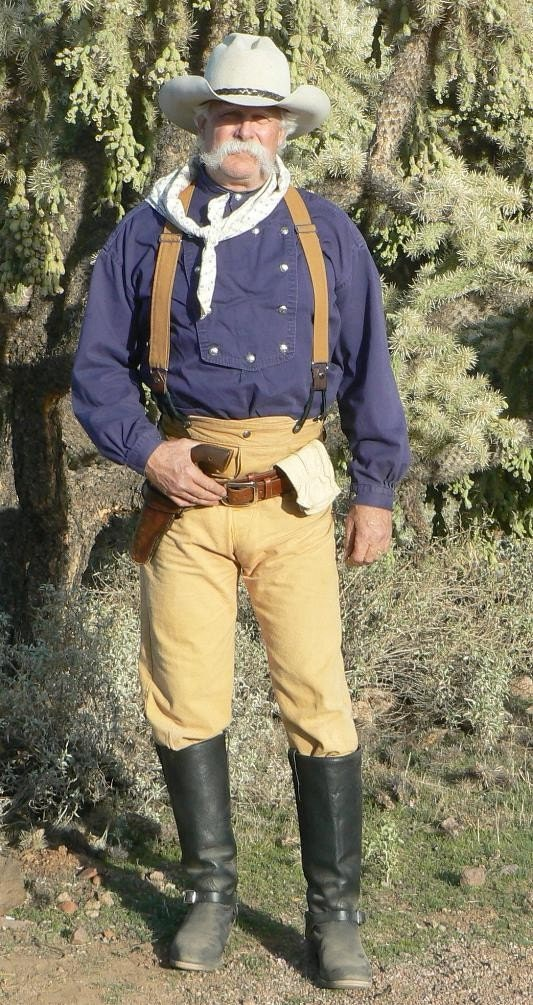 Cowboy Pants Victorian Style Old West Trousers By