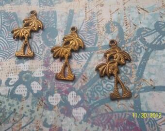 3 VIntage Palm Tree Stampings
