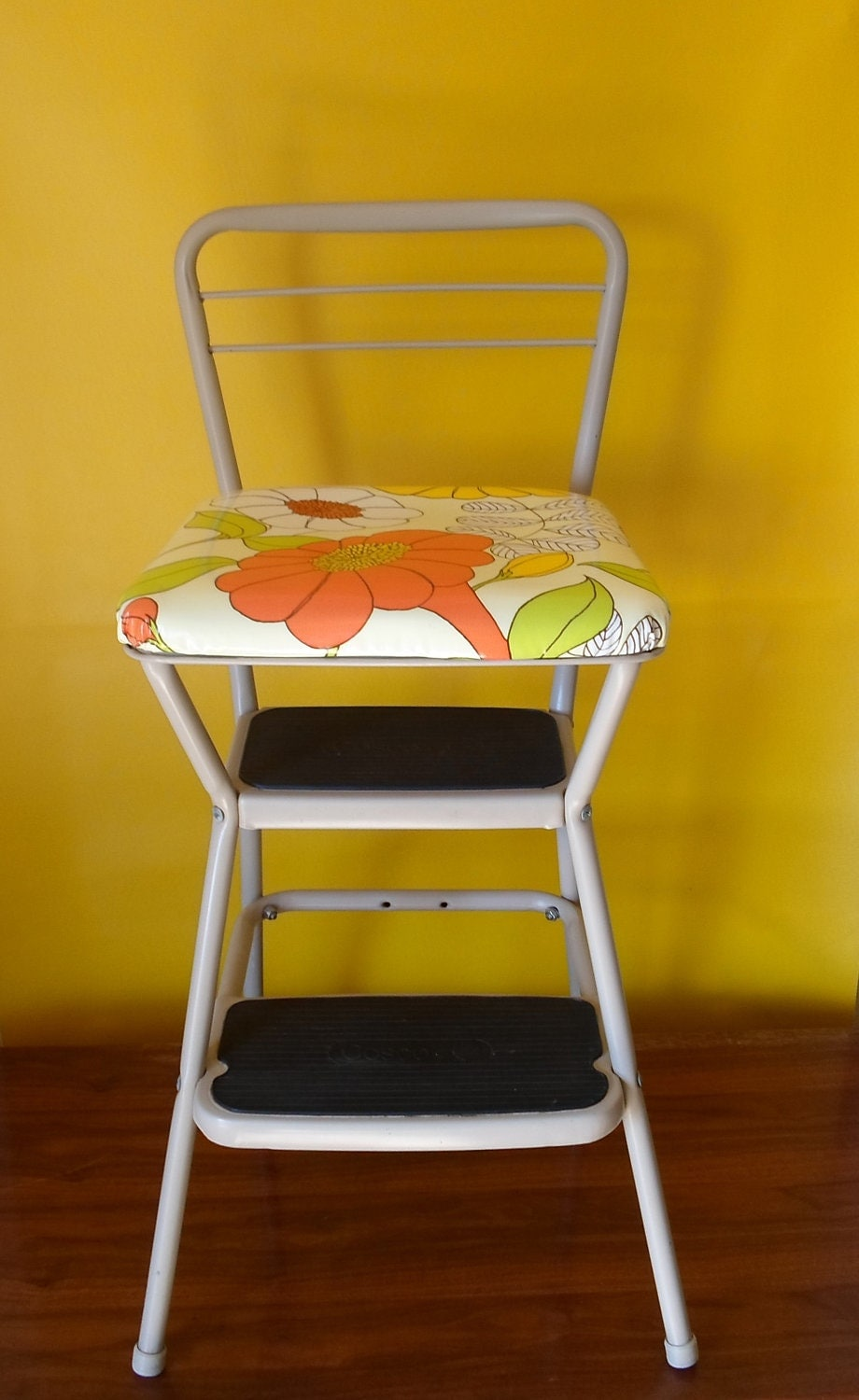 Vintage Cosco Step Stool Counter Stool Counter Chair Cottage