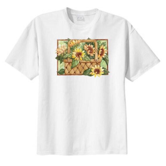 Sunflower Basket New T Shirt, S M L XL 2X 3X 4X 5X, Gorgeous Design