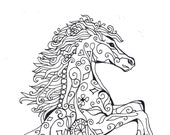 Wild Stallion - Coloring Page