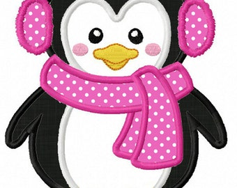 Instant Download Penguin  Applique Machine Embroidery Design NO:1262