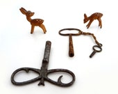 Skeleton Key, Set of 3 Vintage Clock Keys, Skeleton, Steampunk, Supplies, Old Keys