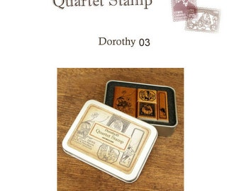 The Wizard of OZ -Dorothy ver.03 Rubber Stamp Set of 4ea **