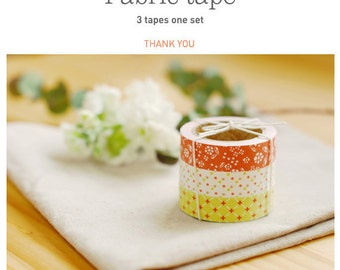 Roll Fabric Reform Tape Decoration for Diary Photo Note etc -THANK YOU