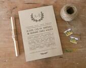 "DIY Printable Wedding Invitation ""Kansas"""