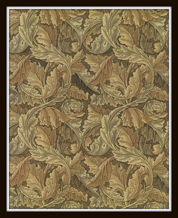 Items Similar To William Morris Acanthus Wallpaper Design