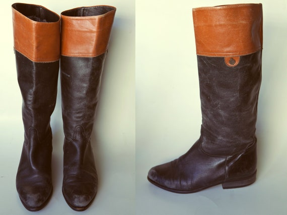 Black.Brown Riding Boots SIZE 6.5-7