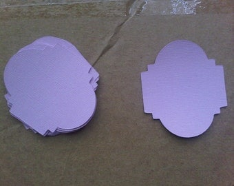 Elegant Oval Frame Paper Cut-outs