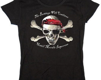 Ladies T-shirt / The beatings will continue until morale improves
