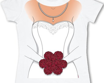 Ladies wedding dress t-shirt