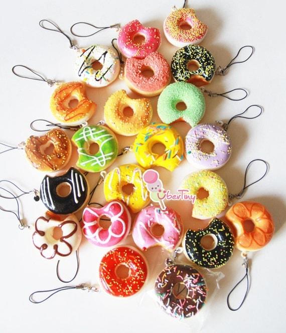 3 Squishy Donut Charms