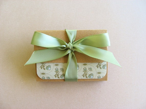 Set of 8-Mini Note Cards in Shades of Neutral Pastel Prints-(Blank)