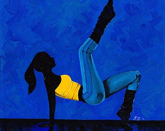 Original Acrylic Painting on Canvas 'Munich' 16x20 Dancer Ballet Modern Contemporary