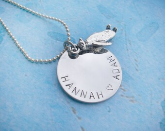 Hand Stamped Penguin Necklace