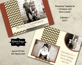 Holiday Card Instant Download Photoshop Template - 5x7 front & back christmas card ( Collection 1 - card 3)